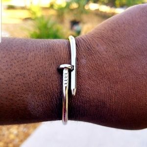 Other - Unisex Stainless Steel Nail Bangle Cuff